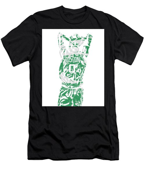 Jayson Tatum Boston Celtics Pixel Art 12 Men's T-Shirt (Athletic Fit)