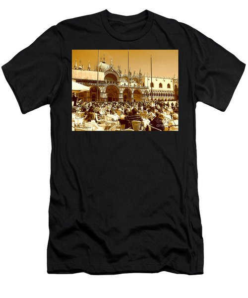 Jazz In Piazza San Marco Men's T-Shirt (Athletic Fit)