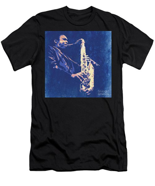 Jazz On S Stage Men's T-Shirt (Athletic Fit)