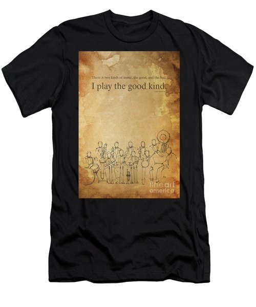 Jazz Quote,louis Armstrong, Spirit Of Jazz Men's T-Shirt (Athletic Fit)