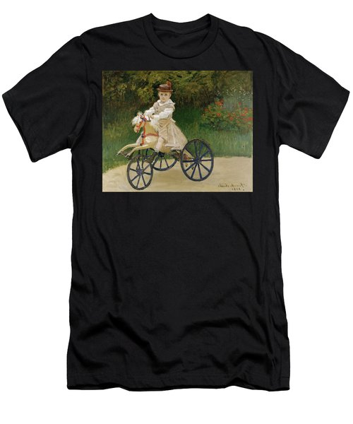 Men's T-Shirt (Slim Fit) featuring the painting Jean Monet On His Hobby Horse           by Claude Monet
