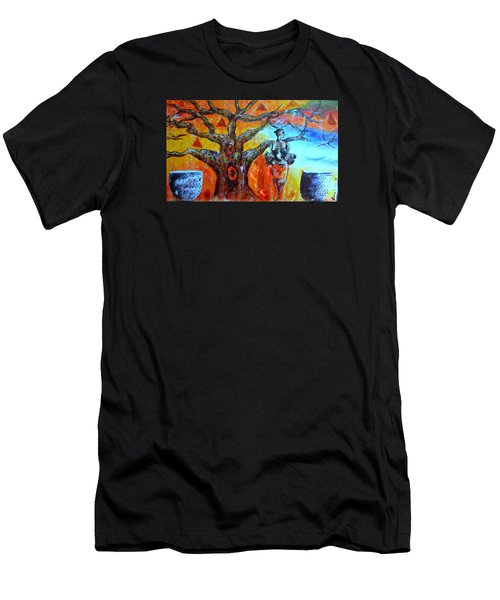 Men's T-Shirt (Slim Fit) featuring the painting Jeanilia by Fania Simon