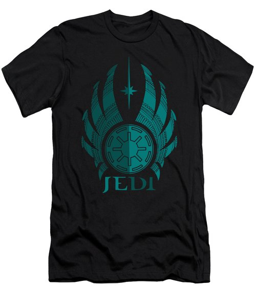 Jedi Symbol - Star Wars Art, Blue Men's T-Shirt (Athletic Fit)