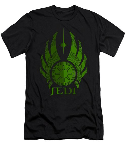 Jedi Symbol - Star Wars Art, Green Men's T-Shirt (Athletic Fit)