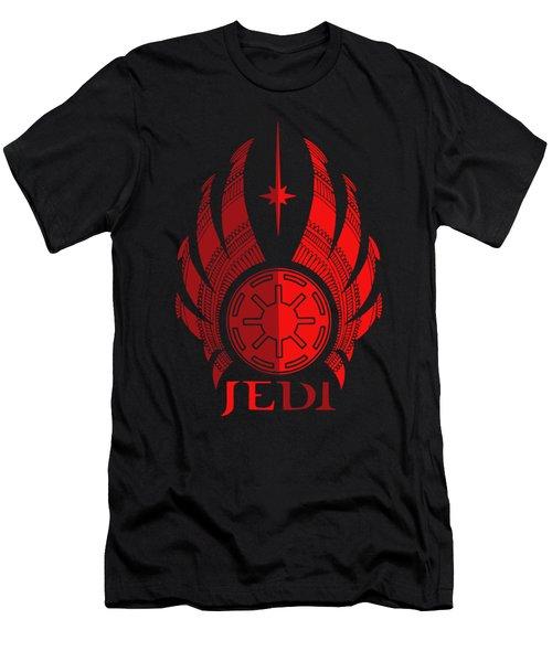 Jedi Symbol - Star Wars Art, Red Men's T-Shirt (Athletic Fit)