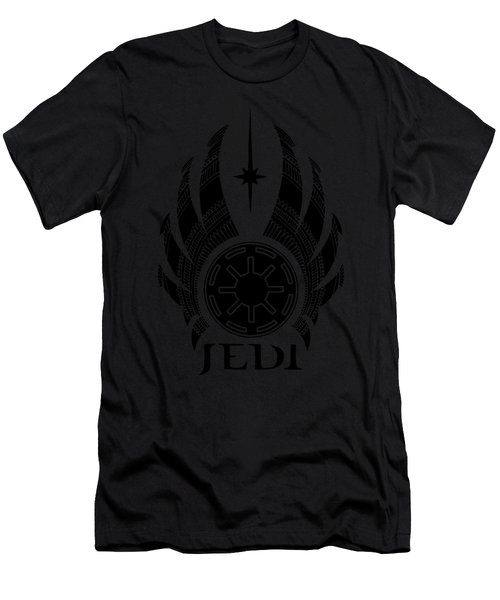 Jedi Symbol - Star Wars Art, Teal Men's T-Shirt (Athletic Fit)