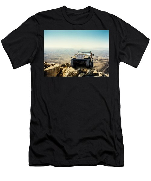 Jeep On A Mountain Men's T-Shirt (Athletic Fit)