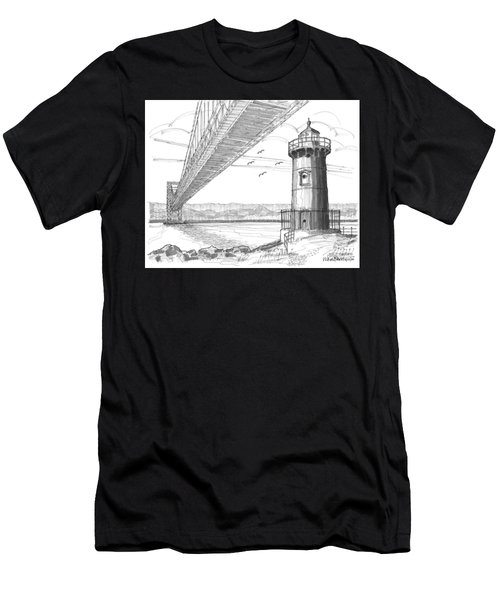 Jeffrey's Hook Lighthouse Men's T-Shirt (Athletic Fit)