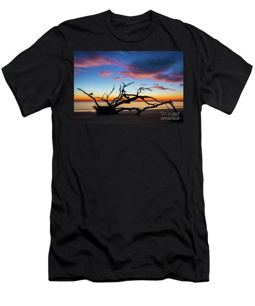 Jekyll Island Sunrise On Driftwood Beach Men's T-Shirt (Athletic Fit)
