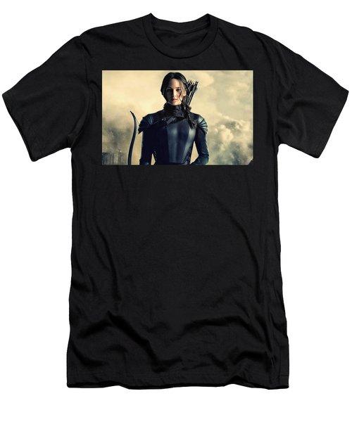 Jennifer Lawrence The Hunger Games  2012 Publicity Photo Men's T-Shirt (Athletic Fit)