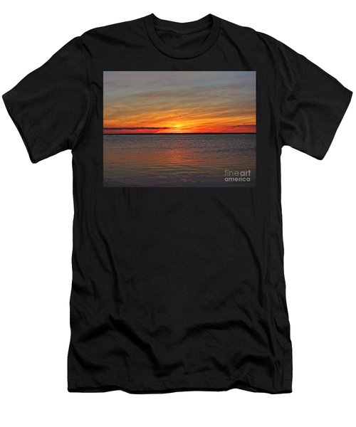 Jersey Shore Sunset Hdr Men's T-Shirt (Athletic Fit)