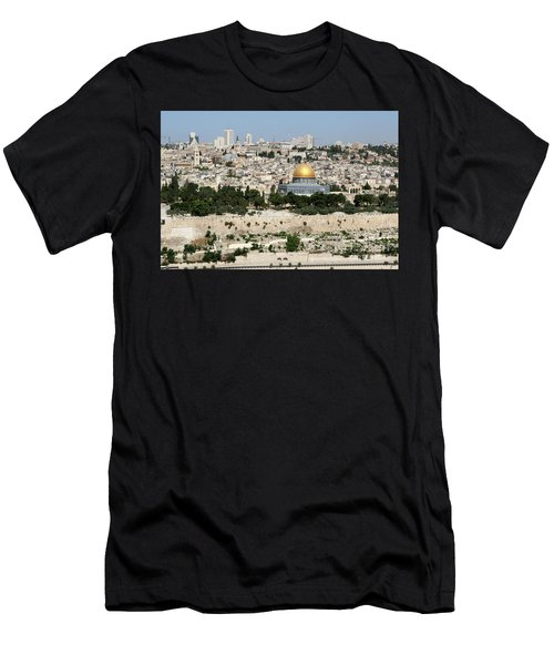 Jerusalem Skyline Men's T-Shirt (Athletic Fit)