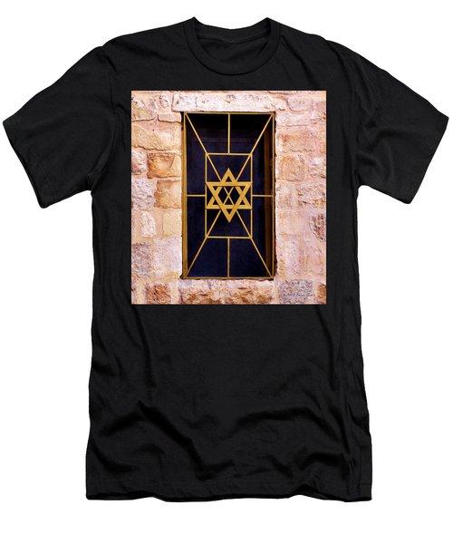 Jerusalem Window On Mt. Zion Israel Men's T-Shirt (Athletic Fit)