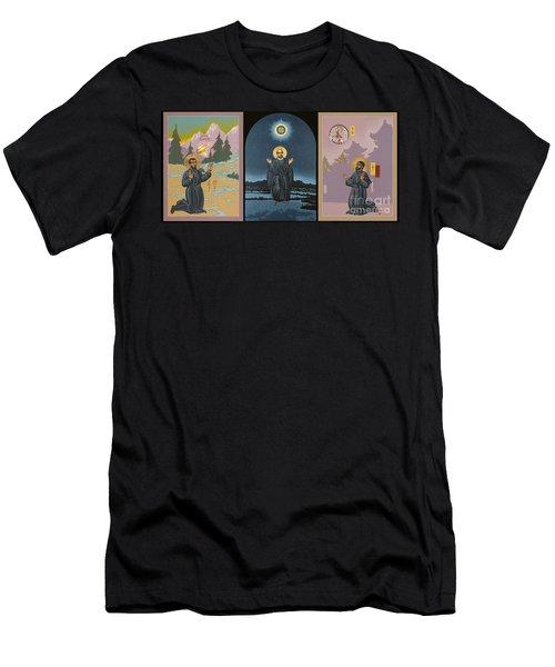 Jesuit Triptych-st Peter Faber-st Ignatius-st Francis Xavier Men's T-Shirt (Athletic Fit)