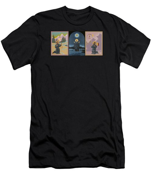 Jesuit Triptych-st Peter Faber-st Ignatius-st Francis Xavier Men's T-Shirt (Athletic Fit)