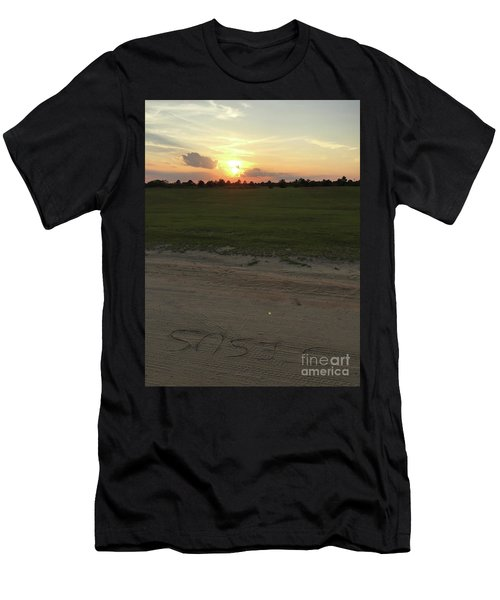 Jesus Healing Sunset Men's T-Shirt (Athletic Fit)