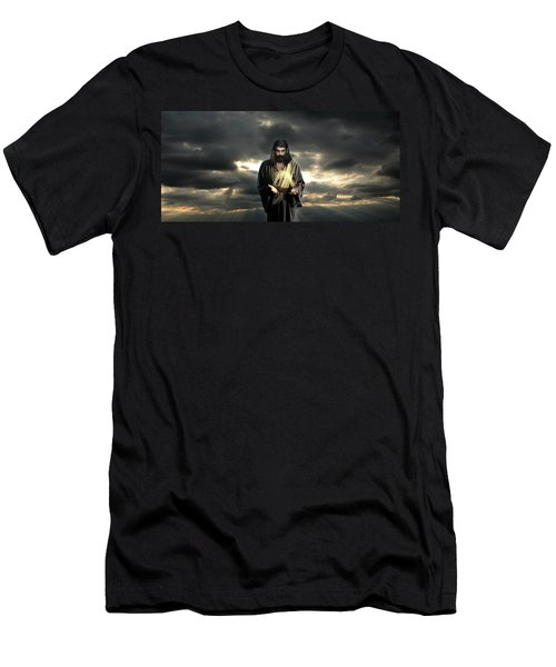 Jesus In The Clouds Men's T-Shirt (Athletic Fit)
