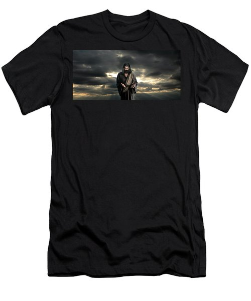 Jesus In The Clouds With Glory Men's T-Shirt (Athletic Fit)