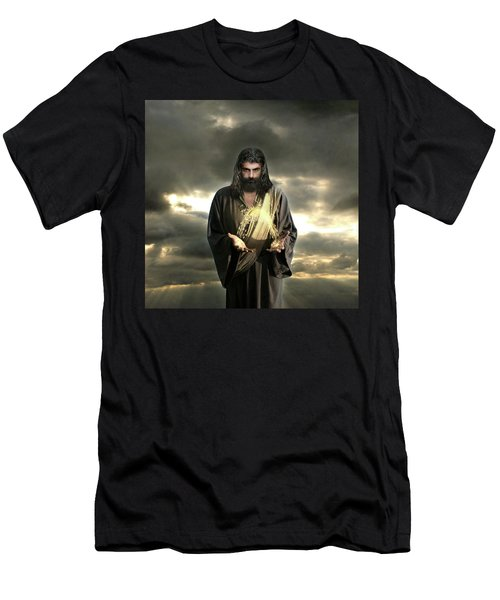 Jesus In The Clouds With Radiant Power Men's T-Shirt (Athletic Fit)