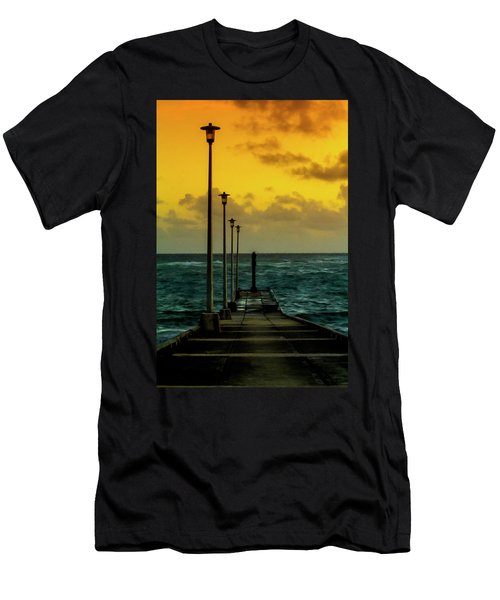 Jetty At Sunrise Men's T-Shirt (Athletic Fit)