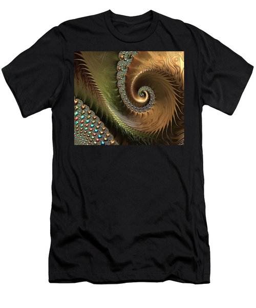 Jewel And Spiral Abstract Men's T-Shirt (Athletic Fit)