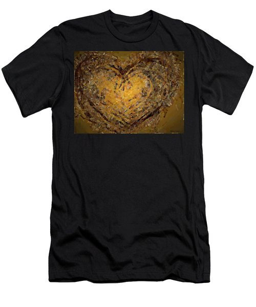 Jeweled Heart Men's T-Shirt (Athletic Fit)