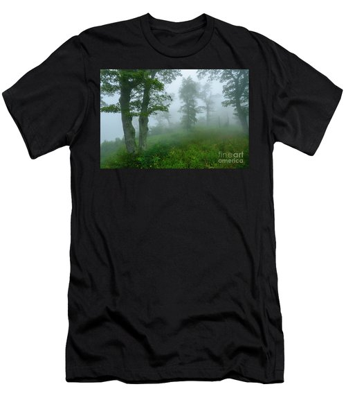 Men's T-Shirt (Slim Fit) featuring the photograph Jewell Hollow Overlook by Thomas R Fletcher