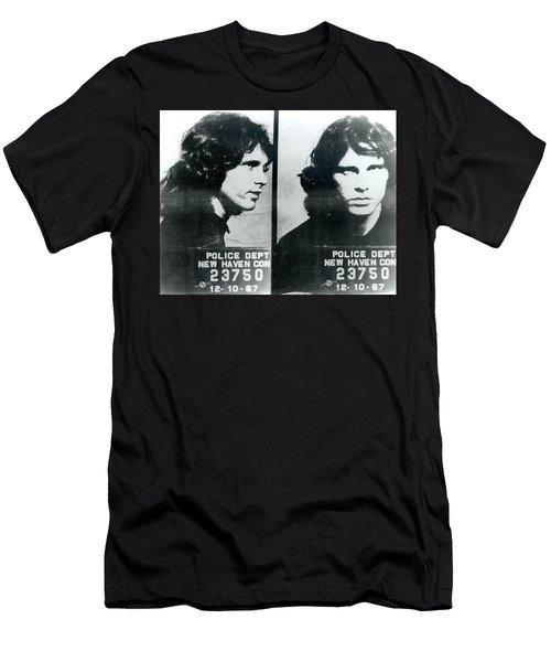 Jim Morrison Mug Shot Horizontal Men's T-Shirt (Athletic Fit)