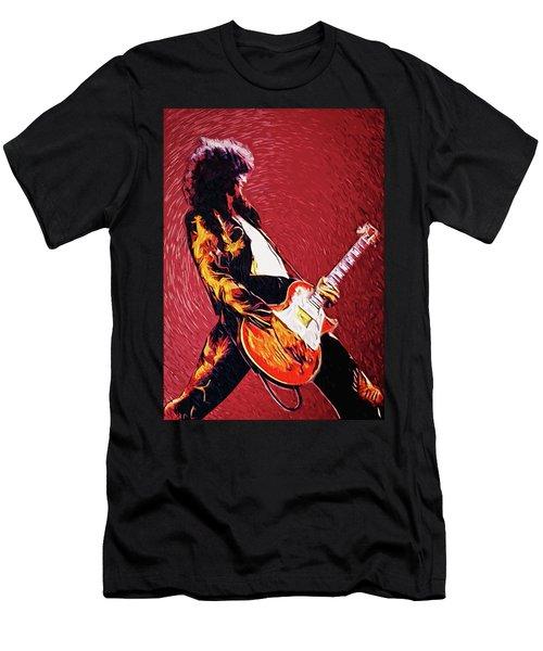 Jimmy Page  Men's T-Shirt (Slim Fit) by Taylan Apukovska