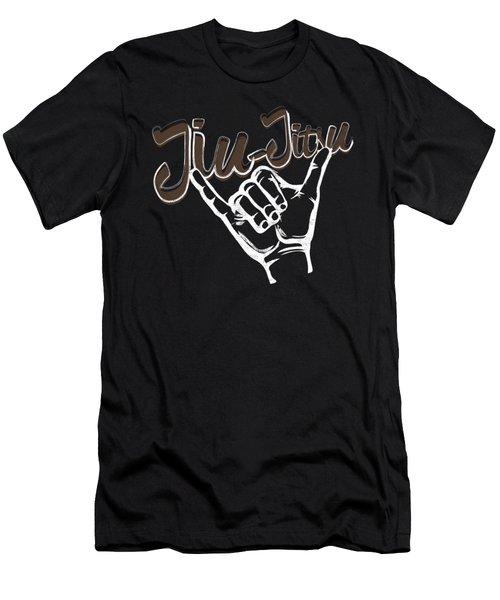 Jiu Jitsu Bjj Jiu Jitsu Rolling Hands Brown Light Men's T-Shirt (Athletic Fit)
