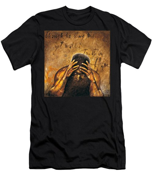 Men's T-Shirt (Slim Fit) featuring the painting Job by Christopher Marion Thomas