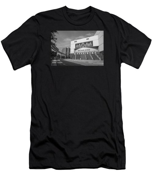 Joe Louis Arena Black And White  Men's T-Shirt (Athletic Fit)
