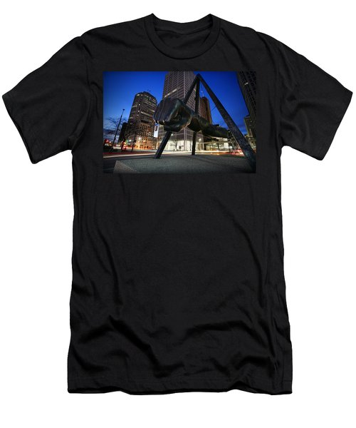 Joe Louis Fist Statue Jefferson And Woodward Ave. Detroit Michigan Men's T-Shirt (Athletic Fit)