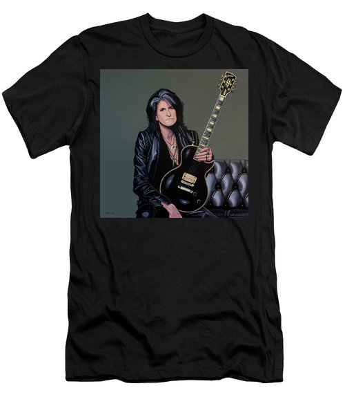 Joe Perry Of Aerosmith Painting Men's T-Shirt (Athletic Fit)