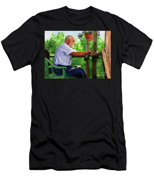 John Cleaning The Rifle Men's T-Shirt (Slim Fit) by Donna Walsh