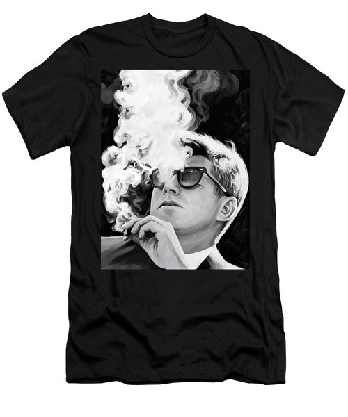 Men's T-Shirt (Slim Fit) featuring the painting John F. Kennedy Artwork 1 by Sheraz A