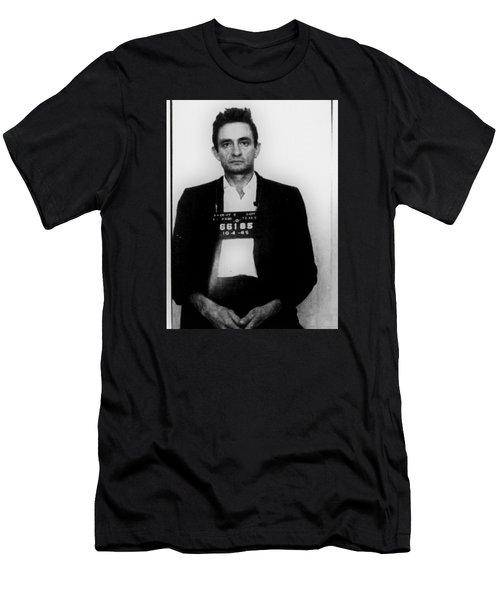 Johnny Cash Mug Shot Vertical Men's T-Shirt (Athletic Fit)