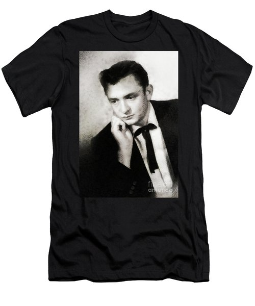 Johnny Cash, Singer/songwriter Men's T-Shirt (Athletic Fit)