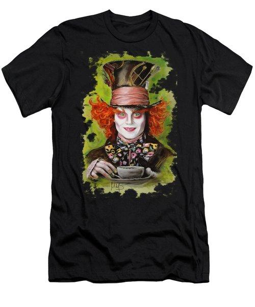 Johnny Depp As Mad Hatter Men's T-Shirt (Athletic Fit)