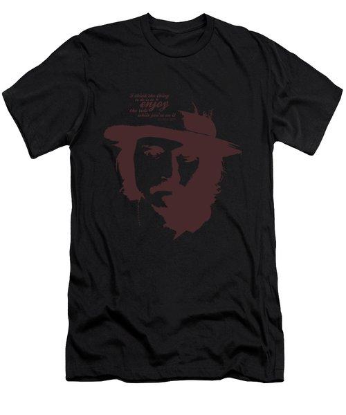 Johnny Depp Minimalist Poster Men's T-Shirt (Athletic Fit)
