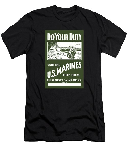 Join The Us Marines Men's T-Shirt (Athletic Fit)
