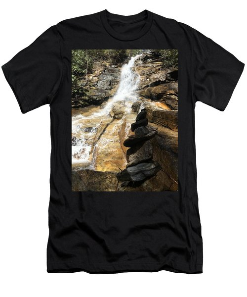 Men's T-Shirt (Athletic Fit) featuring the photograph Jones Gap Falls  by Kelly Hazel