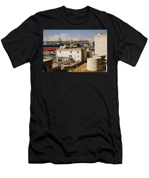 Jones Island Men's T-Shirt (Slim Fit) by David Blank