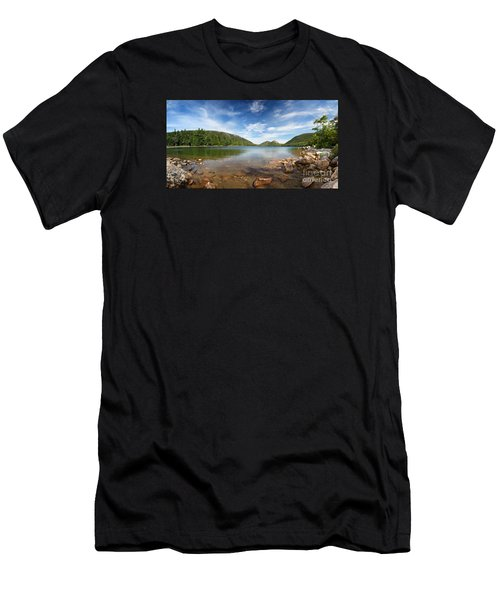 Jordan Pond Panorama Men's T-Shirt (Athletic Fit)