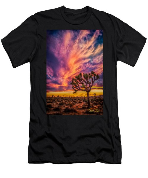 Joshua Tree In The Glowing Swirls Men's T-Shirt (Athletic Fit)