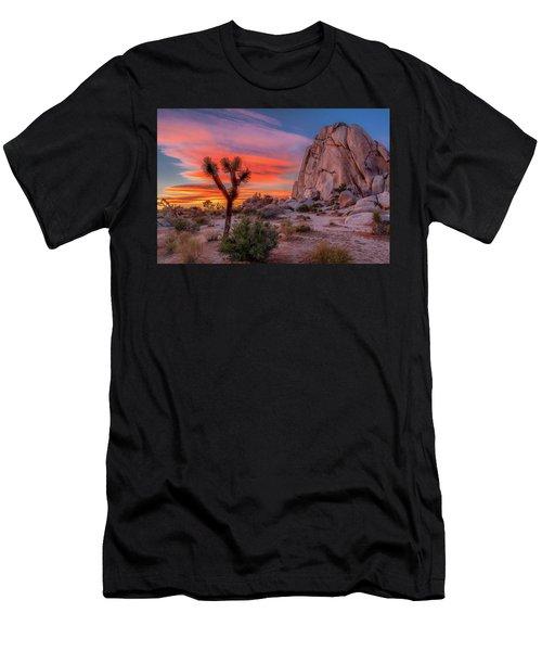 Joshua Tree Sunset Men's T-Shirt (Slim Fit) by Peter Tellone
