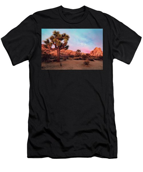 Men's T-Shirt (Athletic Fit) featuring the photograph Joshua Tree With Dawn's Early Light by John Hight