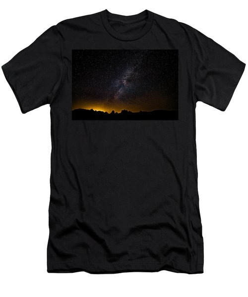 Joshua Tree's Fiery Sky Men's T-Shirt (Athletic Fit)