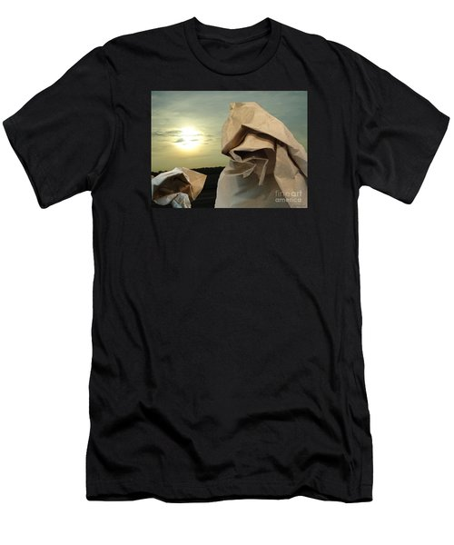 Men's T-Shirt (Slim Fit) featuring the digital art Journey Within by Lyric Lucas