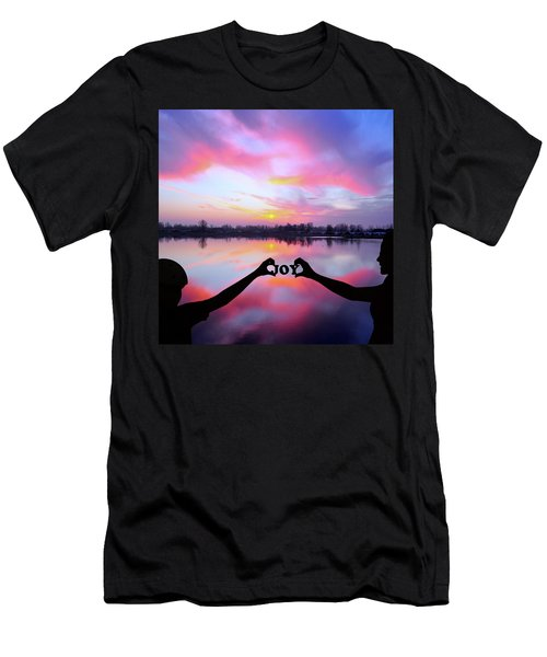 Men's T-Shirt (Athletic Fit) featuring the photograph Joy - Digital Art by Ericamaxine Price